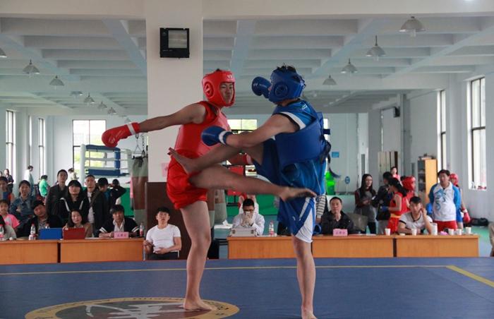 2016年绍兴市青少年武术散打比赛在嵊州举行