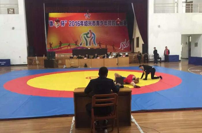 2016绍兴市青少年摔跤锦标赛嵊州体校再夺5金