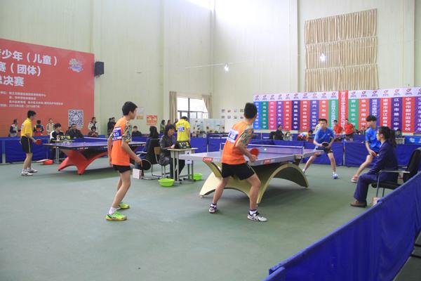 2015年浙江省青少年(儿童)乒乓球冠军赛(团体)初中组总决赛开赛