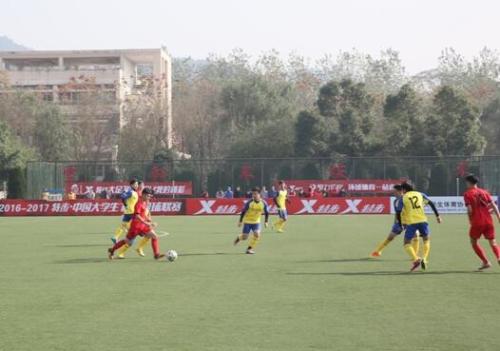 浙江省校园足球高校组联赛暨第十三届学生运动会足球热身赛在浙江农林大学隆重开幕