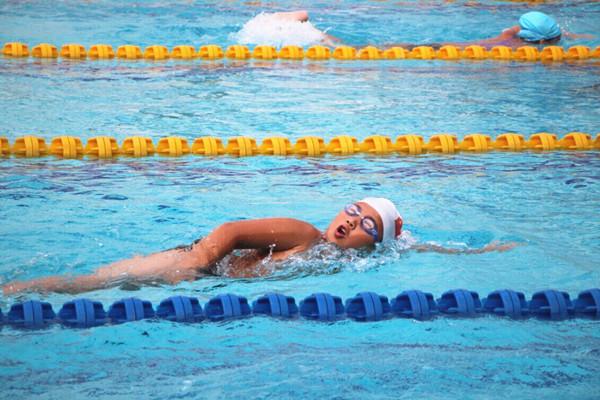 全市青少年游泳锦标赛暨首届中小学生游泳联赛在我县落幕