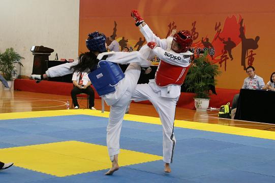 浙江省第十四届大学生运动会跆拳道(乙组)比赛在温州职业技术学院圆满落幕