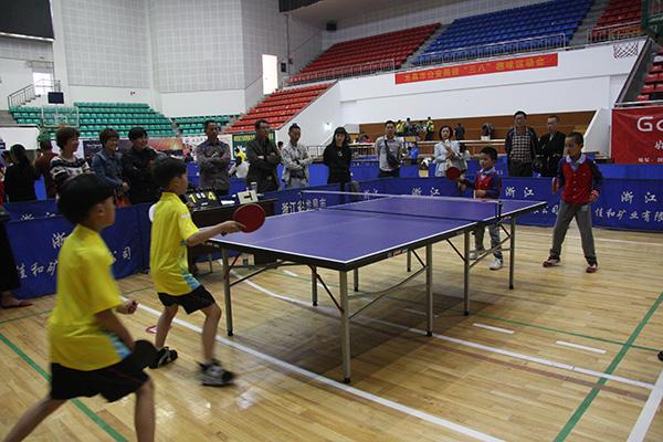 龙泉市2015年中小学生乒乓球比赛举行