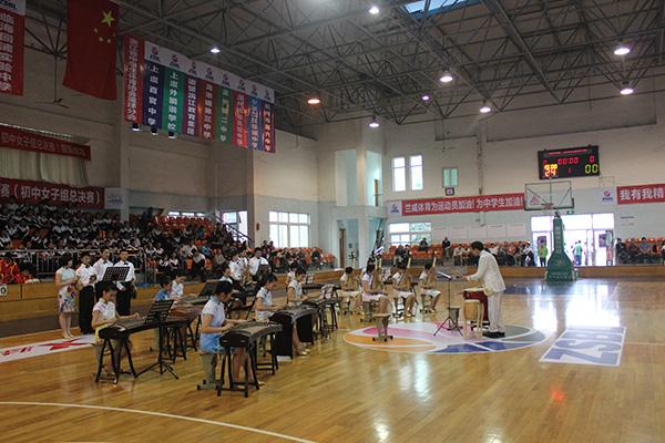 第八届ZSBL联赛初女总决赛花园中学开幕