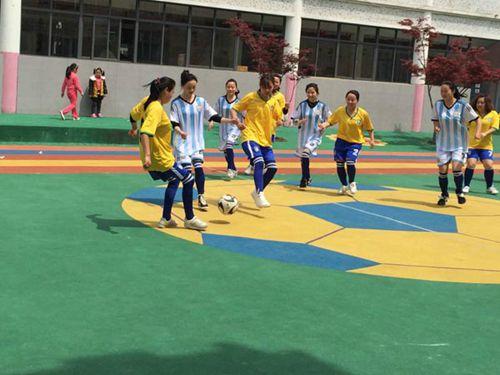 靓丽的风景线——记长兴县中心幼儿园首届女教师7人制足球赛