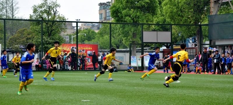 """2015""""希望杯""""绍兴市小学生校园足球联赛在柯桥小学拉开战幕"""