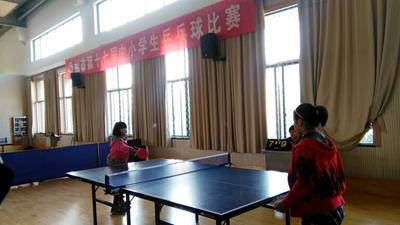 嵊州市第十七届中小学生乒乓球比赛开赛