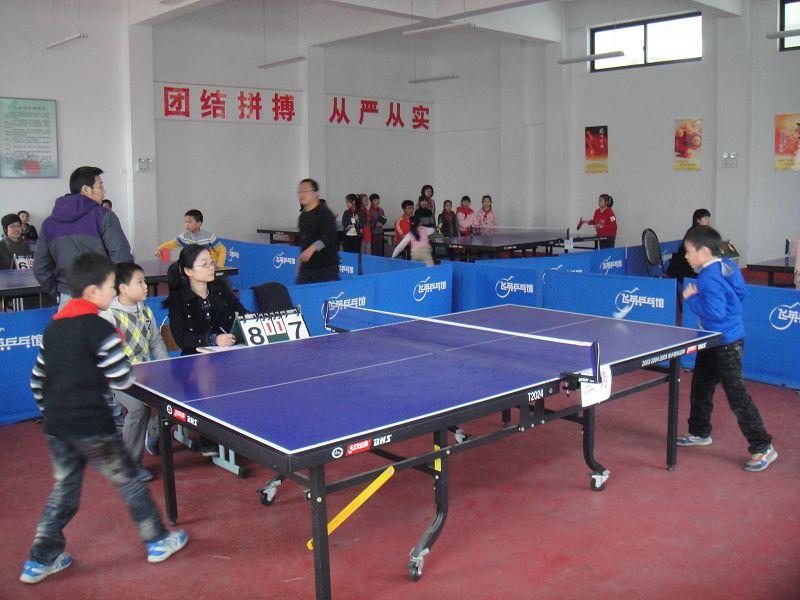 湖州飞英小学第四届乒乓球在乒乓馆举行