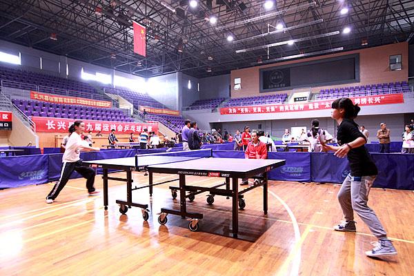 长兴第四届体育节中小学生乒乓球赛圆满结束