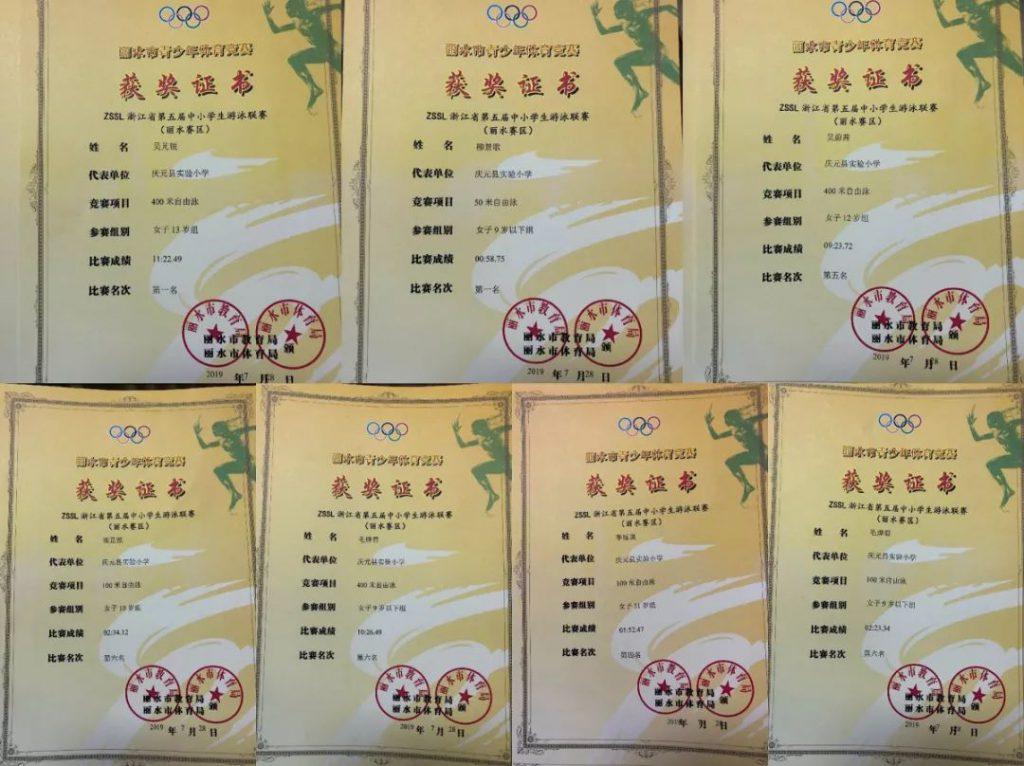 ZSSL浙江省第五届中小学生游泳联赛丽水参赛队名单出炉