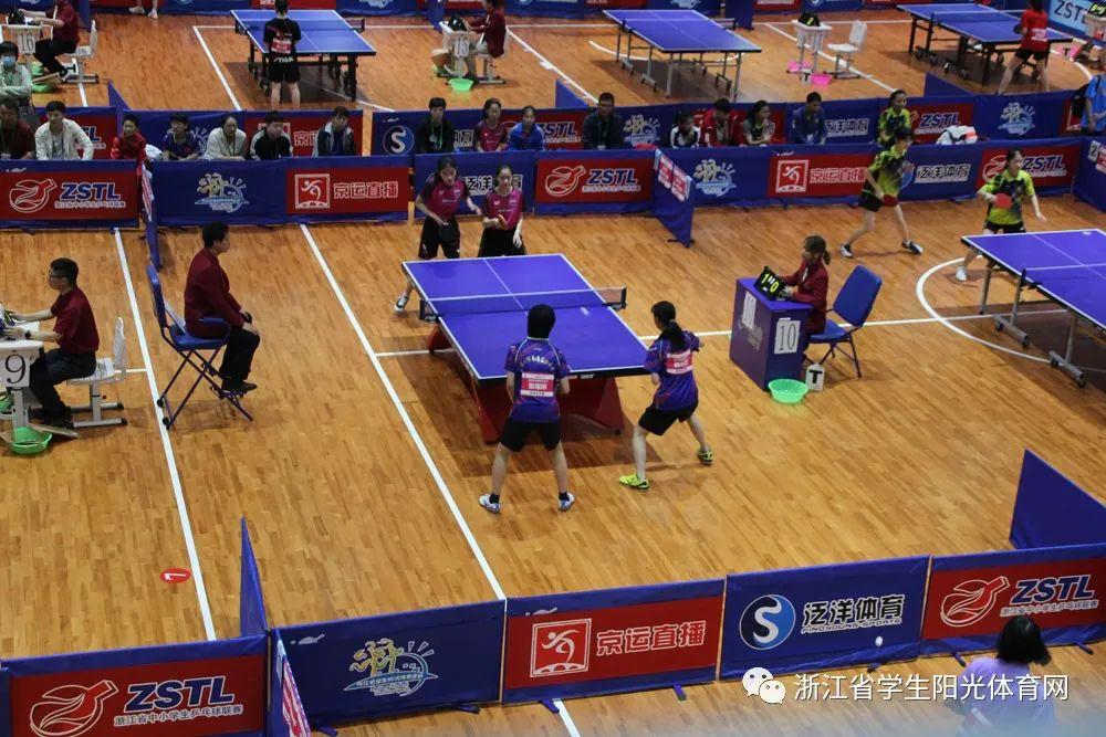 昨日ZSTL浙江省第十二届中小学生乒乓球联赛顺利闭幕